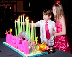 bar mitzva, ceremonia de velas, bat mitzva