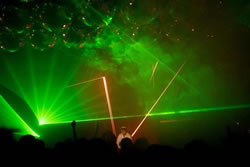 Lasers e Iluminación high tech para eventos